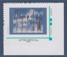 = Ariane A 40 Ans 1979 - 2019, TVP Lettre Verte Cadre Vert Philaposte Issu De Feuille De 30 Timbres Coin - Europe