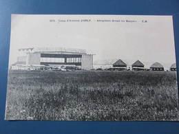 Carte Postale Camp D'aviation D'Orly, Aéroplanes Devant Les Hangars - Aeródromos