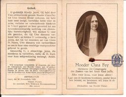 RELIQUE RELIKWIE Mutter  CLARA FEY AACHEN 1815 Simpelveld Nl 1894 + Ref 997 - Religion & Esotérisme