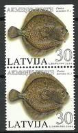 Latvia 2004 Mi 616DoDu MNH ( ZE3 LTVpar616DoDudav37B ) - Fishes