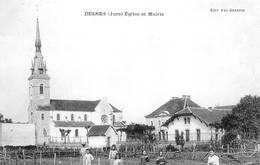 Desnes Canton Bletterans Réédition Fromagerie (à Droite) église Mairie - Francia