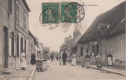 CPA Pontgouin - Rue Porte D'En-Haut (très Jolie Animation) - Other Municipalities