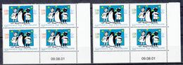 France Timbres Service Neufs N° 122 Et 123 Coin Daté 09.08.01 - Dienstzegels