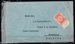 Brief Van Bolivia Naar Bruxelles - Bolivie