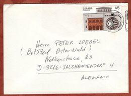 Brief, Rechtshoheit Von Estella, Barcelona Nach Salzhemmendorf 1994? (88568) - 1931-Heute: 2. Rep. - ... Juan Carlos I