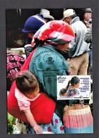 18.- SPAIN ESPAGNE 2018 MAXIMUM CARD Mother And Daughter. Lenca Ethnicity. Civic Values. Malaga - Tarjetas Máxima