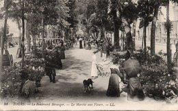 CPA TOURS - LE BOULEVARD BERANGER - LE MARCHE AUX FLEURS - Tours