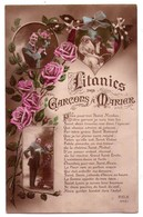 "6375 - Cp Humoristique : "" Litanies Du Garçon à Marier "" - REX N°4461 - - Humour"