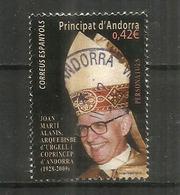 Co Prince D'Andorre, Archevèque Joan Marti Alanis,  Un Timbre Oblitéré, 1 ère Qualité, Cachet Rond - Andorre Espagnol
