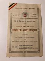 Pour Nos Soldats Mutilés Dimanche 26 Mars 1916 Grande Soirée Artistique  Salle Des Fêtes Joséphites à Louvain - Programmes