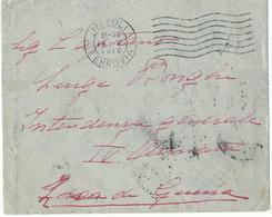 BUSTA POSTA MILITARE INTENDENZA 4°ARMATA A -DA NAPOLI X INTEND. GENERALE IV ARMATA ZONA DI GUERRA - War 1914-18