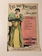 """""""C'est Bien Parisien"""" Chansonnette Créée Par Madeleine GUITTY à Ba-ta-clan - Partitions Musicales Anciennes"""