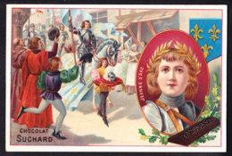CHROMO Chocolat SUCHARD   +/- 1898  Serie 57  Femmes Célèbres    Jeanne D'Arc   Trade Card - Suchard