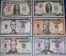 LOT SET SERIE 6 BILLETS  ETATS UNIS USA DOLLARS TEST NOTE CHINOIS SANS VALEUR - Billets