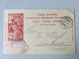 K8 Schweiz Ganzsache Stationery Entier Postal P 33 Von Basel Nach Trarbach - Entiers Postaux