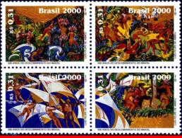 Ref. BR-2738 BRAZIL 2000 - WITH PORTUGAL, DISCOVERY, OF BRAZIL, SHIPS, MI# 3002-05, SET MNH, JOINT ISSUE 4V Sc# 2738 - Bateaux