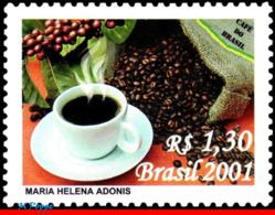 Ref. BR-2830 BRAZIL 2001 - COFFEE FROM BRAZIL,, MI# 3212, MNH, FOOD, DRINKS 1V Sc# 2830 - Getränke