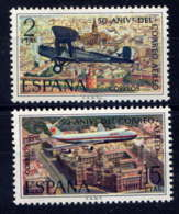 ESPAGNE - 1712/1713** - CINQUANTENAIRE DU COURRIER AERIEN - 1931-Today: 2nd Rep - ... Juan Carlos I