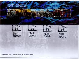 FDC Azerbaijan Stamps 2019. THE OIL EPIC BY SABINA SHIKHLINSKAYA Petrol FIRST DAY COVER  ONLY AS PER PICTURE - Fabrieken En Industrieën