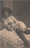 AK Erotik Erotic Erotica Erotisme Sexy Femme Woman Frau Nude Akt Sex Vintage Jeune Fille Fillette Mädchen Girl Chica - Nus Adultes (< 1960)
