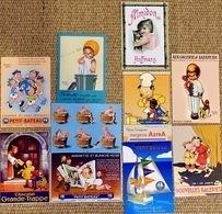 Lot N° 1 De 10 CPM Publicitaires : Enfants, Illustrateurs (Béatrice Mallet, Steinlen, Mich) - Publicidad