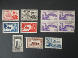 FEZZAN Lot De 11 Timbres 1946 / 1949 / 1950 COLONIES FRANCAISES FRANCE Stamps - Fezzan (1943-1951)