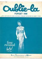 LOT 2 PARTITIONS LINE RENAUD OUBLIE-LA 1963 ET SI UN JOUR TU ME DIS 1960 2 SCANS - Partitions Musicales Anciennes