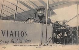 CPA GRANDE SEMAINE D'AVIATION DE CHAMPAGNE ( 22-29 Août 1909 ) Paulhan - Flieger