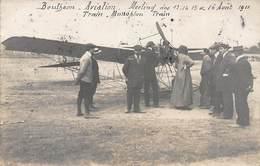 CPA Bouthéon - Aviation - Meeting Des 13-14-15 Et 16 Août 1911 - Train - Monoplan - Train - ....-1914: Précurseurs