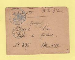 Tresor Et Postes 8 - 1916 - Convoi Automobile TM 377 - Guerra De 1914-18