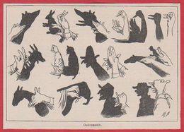 Ombromanie. Ombre Chinoise. Illustration Maurice Dessertenne. Larousse 1931. - Documenti Storici