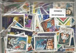 "Lot 500 Timbres Thematique "" Cosmos "" - Espace"