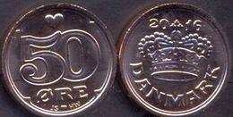 Denmark 50 Ore 2016 UNC ( JS + HW ) - Denmark