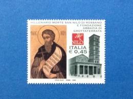 2004 ITALIA SAN NILO E ABBAZIA GROTTAFERRATA FRANCOBOLLO NUOVO ITALY STAMP NEW MNH** - 6. 1946-.. Repubblica