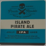 BAHAMAS :  3 Early-can Labels From PIRATE REPUBLIC Brewery Nassau , VERY RARE - Bier