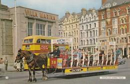 Postcard Douglas Horse Tram PU 1961 [ Bamforth ] My Ref  B13820 - Isle Of Man