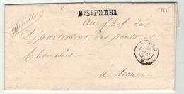 Suisse // Schweiz // Switzerland //  Préphilatélie //  Lettre Au Départ De Bourg St.Pierre Pour Sion Via Martigny - ...-1845 Vorphilatelie