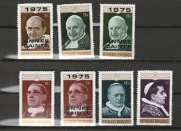 Lot 7 Timbres Centenaire Du Vatican Année Sainte Paul VI Jean XXIII PIE XI XII BENOIT XV Mi 703 432 704 433 646 434 435A - Rwanda