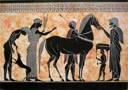 Grèce - Détail D' Amphore Grec - Retour De Dioscouri - Antiquité - Chevaux - Carte Neuve - Voir Scans Recto-Verso - Grèce