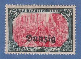 Danzig 1920 Freimarke Höchstwert 5 Mark Mi.-Nr. 15B **  - Dantzig