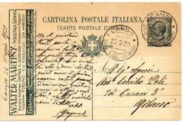 ITALIE.1920.ENTIER POSTAL PUB. THEMES: CROIX-ROUGE. INDUSTRIE. - Croix-Rouge