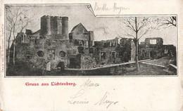 67 Gruss Aus Lichtenberg + Timbre Timbres Cachet Allemand 1906 Alsace Lorraine - France