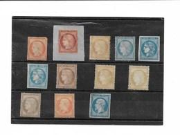 Intéressant Lot De 12 Timbres Classiques Non Oblitérés Sans Gomme... Cote Globale Supérieure à 10 000 € - 1849-1850 Cérès