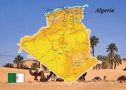 Algeria Country Map New Postcard Algerien Landkarte AK - Algerien