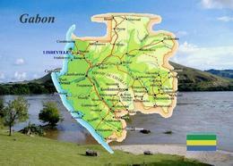 Gabon Country Map New Postcard Gabun Landkarte AK - Gabun
