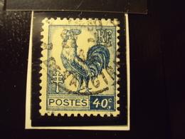 """1944-COQ Et MARIANNE D'ALGER, Oblitéré N°  632    """"  40c Bleu   """"       Net         0.50 - 1944 Coq Et Marianne D'Alger"""