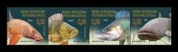 Bosnia And Herzegovina (Serbian) 2019 Mih. 815/18 Fauna. Fishes MNH ** - Bosnien-Herzegowina