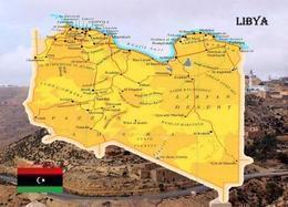 Libya Country Map New Postcard Libyen Landkarte AK - Libyen