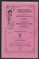 OOSTENDE * INTERNATIONALE TONEELWEDSTRIJD * 1927-28 * KONINKLIJKE SCHOUWBURG * VELE RECLAMES * 16 PP * 21.5 X 14 CM - Programmi