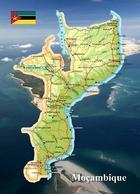 Mozambique Country Map New Postcard Mosambik Landkarte AK - Mosambik